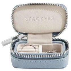 Pudełko podróżne na biżuterię Travel Mini Stackers dusky blue
