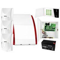 Czujki alarmowe, System alarmowy: Płyta główna CA-4 VP + Manipulator CA-4 VKLED + 3x Czujnik ruchu + Akcesoria