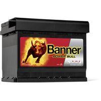 Akumulatory samochodowe, Akumulator Banner Power Bull 62Ah 550A EN PRAWY PLUS