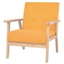 vidaXL Fotel tapicerowany, żółty Darmowa wysyłka i zwroty