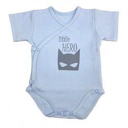 Niemowlęce body KOPERTOWE krótki rękaw Little Hero błękitne
