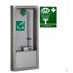 Oczomyjka, myjka do oczu i twarzy (LABO) montowana w szafce na ścianie, wylewka Axion MSR, otwarta, n/spraw