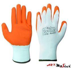 Rękawice ochronne dziane powlekane pomarańczowym nitrylem RnitO kat. 1 7
