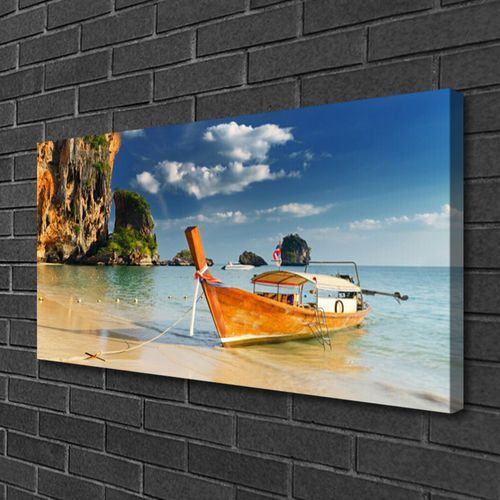 Obrazy, Obraz na Płótnie Łódka Morze Krajobraz