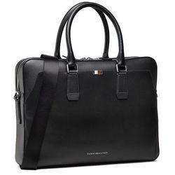 Torba na laptopa TOMMY HILFIGER - Business Leather Slim Comp Bag AM0AM07551 BDS