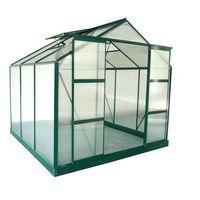 Szklarnie, Szklarnia ogrodowa z poliwęglanu o pow. 5,9 m² ANISSA z podstawą - Zielony