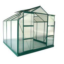 Szklarnia ogrodowa z poliwęglanu o pow. 5,9 m² ANISSA z podstawą - Zielony