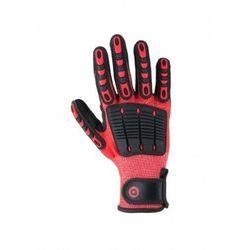 Antyprzecięciowe rękawice mechaniczne SCUDO w kolorze czerwonym