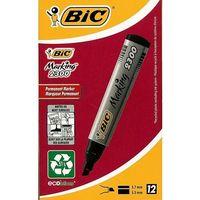 Markery, Marker Marking 2300 ścięty czarny (12szt) BIC