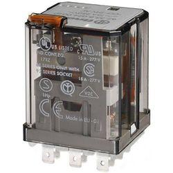 Przekaźnik 2P 16A 24V AC do gniazd lub Faston 187, przycisk testujący, mechaniczny wskaźnik zadziałania 62.32.8.024.0040 FINDER