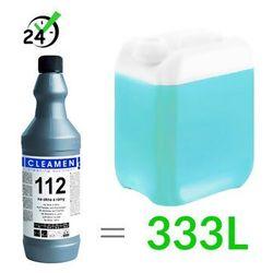 Płyn do czyszczenia szkła ultrakoncentrat 112 (1L, 1:330), Cleamen ✔ZAPLANUJ DOSTAWĘ ✔SKLEP SPECJALISTYCZNY ✔KARTA 0ZŁ ✔POBRANIE 0ZŁ ✔ZWROT 30DNI ✔RATY ✔GWARANCJA D2D ✔LEASING ✔WEJDŹ I KUP NAJTANIEJ