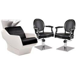 Zestaw Mebli Fryzjerskich Myjnia Technology + 2 Fotele Royal Lux Ayala
