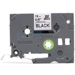 Taśma do brother tze-334 czarne tło/złoty nadruk 12mm x 8m zamiennik