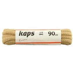 KAPS Sznurowadła 90 cm 09_090_200_0010 beżowe, sznurowadła bawełniane, okrągłe - Beżowy