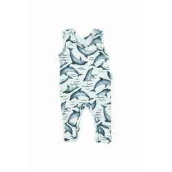 Białe śpiochy chłopięce w delfiny 5S40A2 Oferta ważna tylko do 2031-06-10