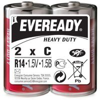Baterie, Bateria R 14 1,5v C eveready red hd blister 2 szt Energizer