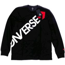 koszulka CONVERSE - Crossbody Lnslv Tee Black (BLACK) rozmiar: M