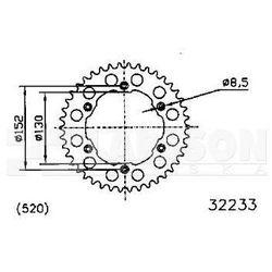 Zębatka tylna aluminiowa JT 51-32233-48, 48Z, rozmiar 520 2303522 BMW G 450