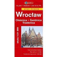 Mapy i atlasy turystyczne, Wrocław. Oleśnica. Świdnica. Trzebnica. Plan miasta w skali 1:21 000 (opr. broszurowa)