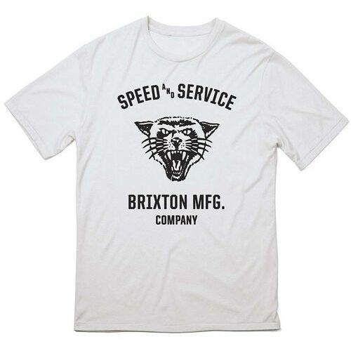 T-shirty męskie, koszulka BRIXTON - Rydell White (0200)