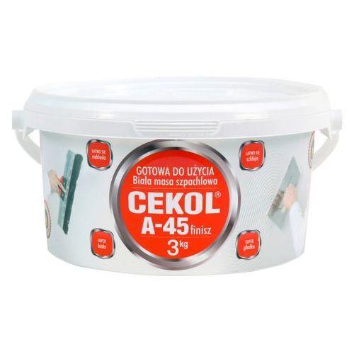 Zaprawy i szpachle, Cekol Masa szpachlowa A-45 Finisz 3 kg