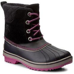 Śniegowce SOREL - Youth Slimpack II Lace NY2416 Black/Kettle 011