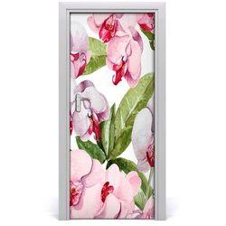 Okleina samoprzylepna fototapety na drzwi Orchidea