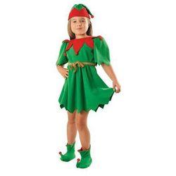 Kostium Elf Zielony sukienka - M - 122/128 cm