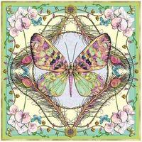 Pozostałe artykuły szkolne, Karnet kwadrat z kopertą Butterfly & Orchids