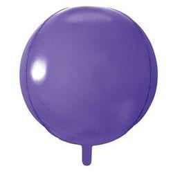 Balon foliowy kula fioletowy - 40 cm - 1 szt.