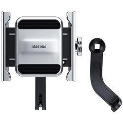Baseus Knight metalowy uchwyt do telefonu na rower motor motocykl na kierownicę srebrny (CRJBZ-0S) - Srebrny