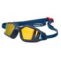 Okularki pływackie, speedo Hydropulse Mirror Okulary pływackie, navy/oxid grey/blue 2020 Okulary do pływania