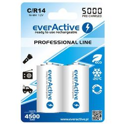 Akumulatory everActive R14 C Ni-MH 5000 mAh ready to use 2 sztuki