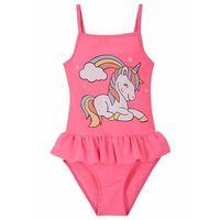 Stroje kąpielowe dla dzieci, Kostium kąpielowy dziewczęcy bonprix różowy neonowy