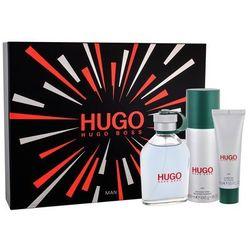 HUGO BOSS Hugo Man zestaw 125 ml Edt 125 ml + Dezodorant 150 ml + Żel pod prysznic 50 ml dla mężczyzn