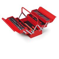 Skrzynki narzędziowe, Skrzynka na narzędzia z wyposażeniem, 205x404x202 mm