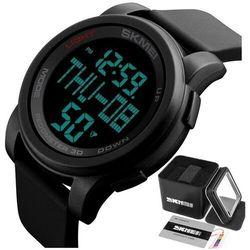 Zegarek męski sportowy skmei 1317 black krokomierz