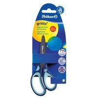 Nożyczki, Nożyczki GRIFFIX tytanowe praworęcz 14,5cm PELIKAN - niebieskie
