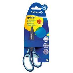 Nożyczki GRIFFIX tytanowe praworęcz 14,5cm PELIKAN - niebieskie