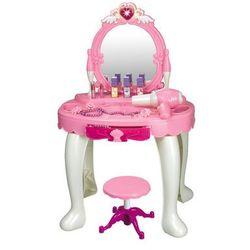 Duża toaletka różowa dla dziewczynki Lustro Fryzjer 008-25