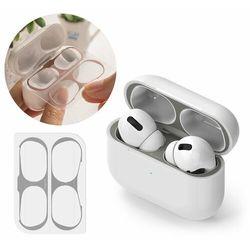 Ringke 2x folia ochronna naklejka osłony przeciw kurzowi do etui bazy słuchawek Apple AirPods Pro szary (ACER0005)