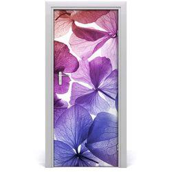 Okleina Naklejka fototapeta na drzwi Fioletowe kwiaty