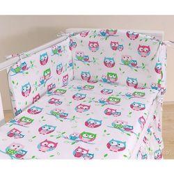 MAMO-TATO Ochraniacz do łóżeczka 60x120 Sówki białe
