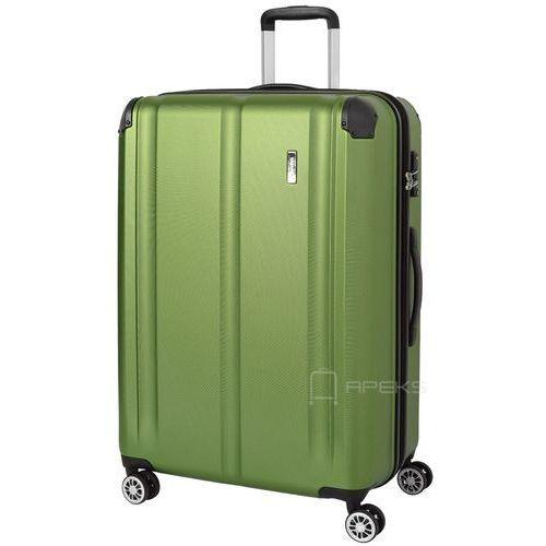 Torby i walizki, Travelite City duża walizka poszerzana 77 cm / zielona - zielony ZAPISZ SIĘ DO NASZEGO NEWSLETTERA, A OTRZYMASZ VOUCHER Z 15% ZNIŻKĄ