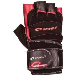 Rękawice fitness SPOKEY Miton (rozmiar M) Czarno-czerwony