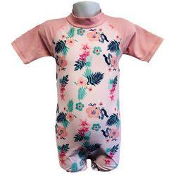 Strój kąpielowy kombinezon dzieci 84cm filtr UV50+ - Pink Floral \ 84cm
