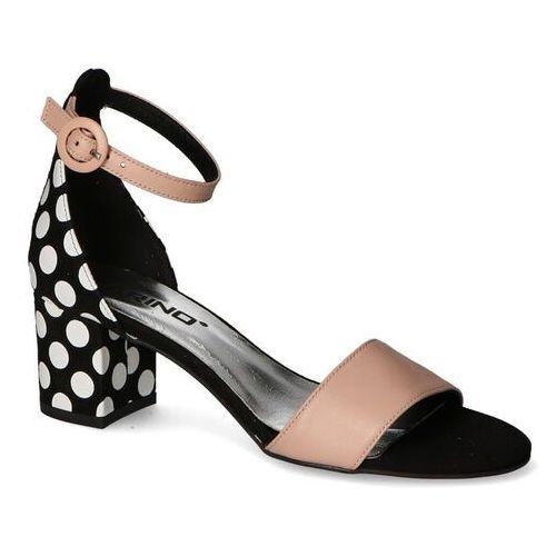 Sandały damskie, Sandały Karino 3311/125-P Różowe/Czarne