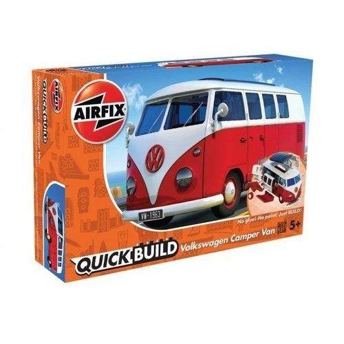 Figurki i postacie, Model plastikowy QUICKBUILD VW Camper Van czerwony