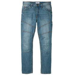 "Dżinsy Regular Fit Straight bonprix niebieski ""medium bleached (dirty overdyed"""