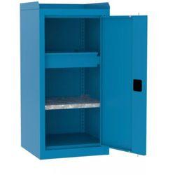 Metalowa szafa warsztatowa SMD 515/4 półka szuflada + rant boczny